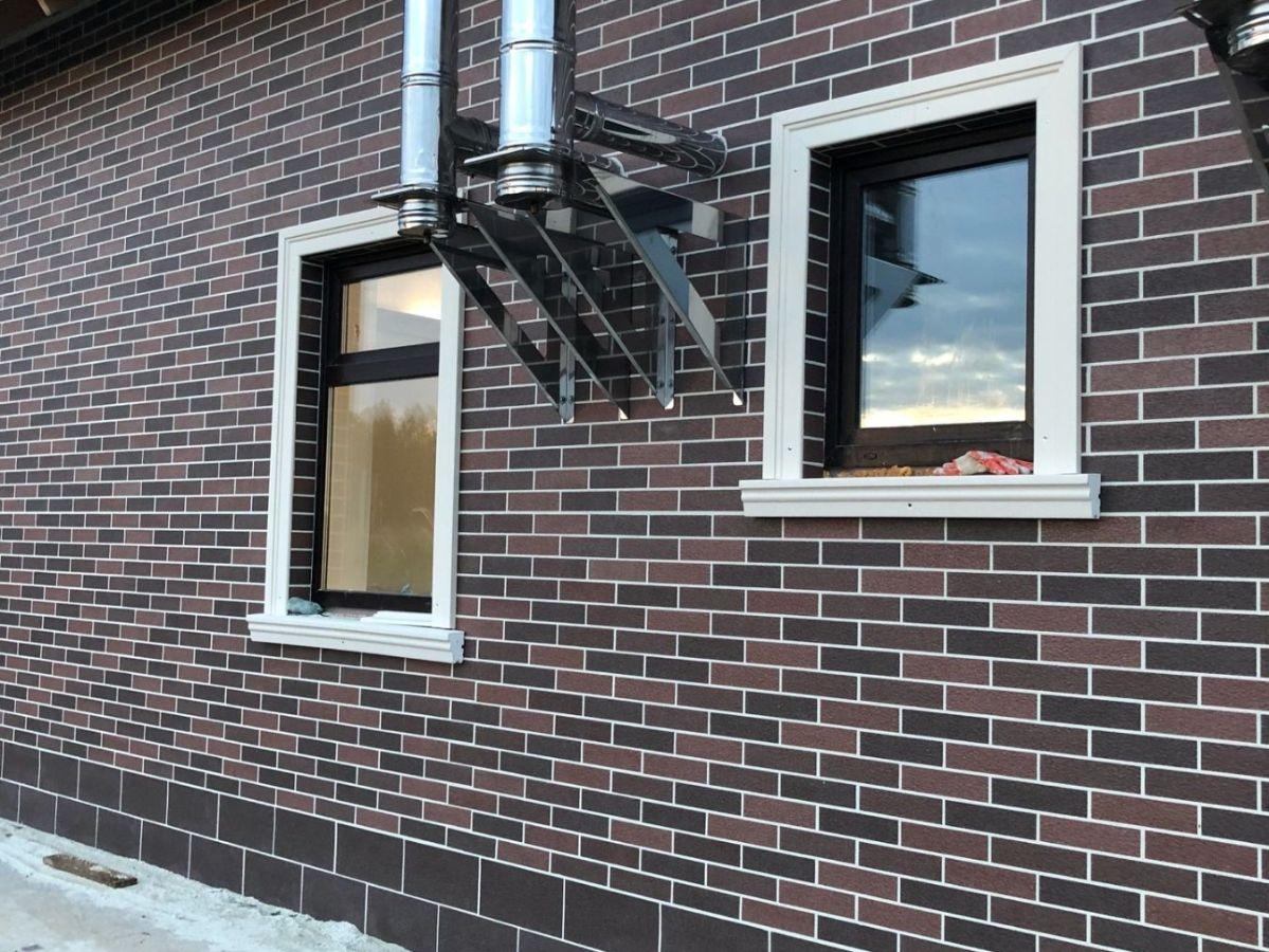Декоративное покрытие АМК на фасаде вашего дома. Кирпич цвет Микс 410