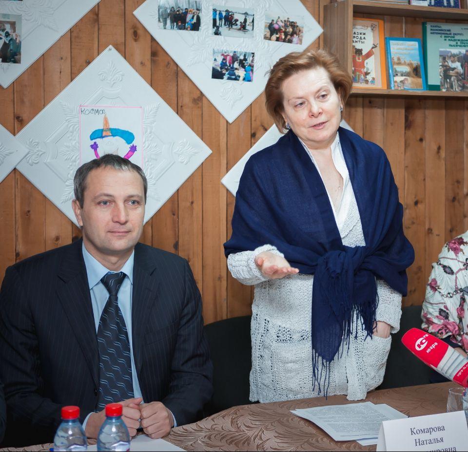 Губернатор Югры и Федеральный инспектор Д. Кузьменко