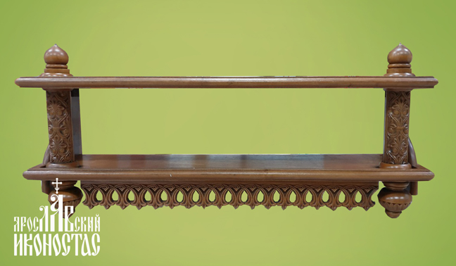 картинка Полка прямая двухярусная от магазина мастерской Ярославский иконостас