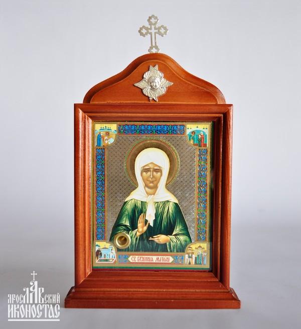 картинка Икона с частицей гроба Св. Блаж.Матроны                                                           с аркой на подставке от магазина мастерской Ярославский иконостас