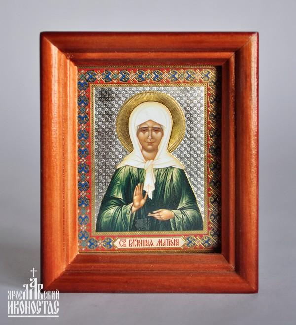 картинка Икона с частицей покрова Св. Блаж.Матроны от магазина мастерской Ярославский иконостас